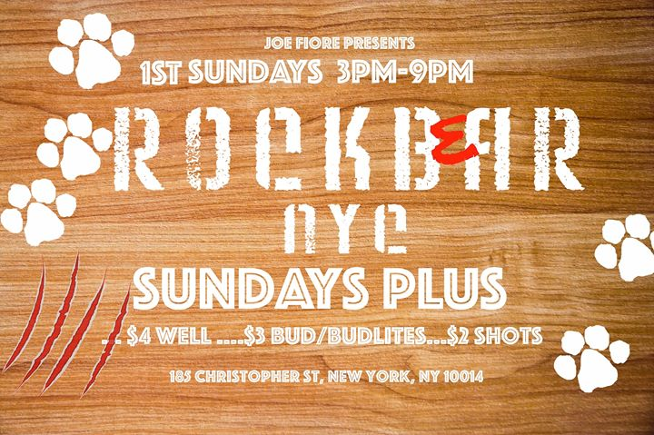 Rockbear PLUS Sunday Beer Blast! in New York le Sun, November  3, 2019 from 03:00 pm to 09:00 pm (After-Work Gay)