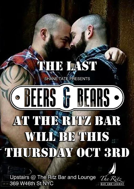 The last BEERS & BEARS at the RITZ! in New York le Do 17. Oktober, 2019 18.00 bis 00.00 (After-Work Gay, Bear)