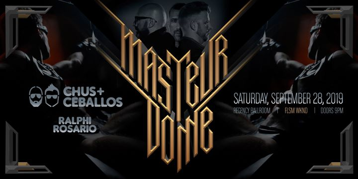 Masteurdome FLSM WKND w/Chus+Ceballos and Ralphi Rosario in San Francisco le Sat, September 28, 2019 from 09:00 pm to 03:00 am (Clubbing Gay)