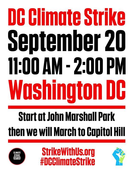 DC Climate Strike en Washington D.C. le vie 20 de septiembre de 2019 11:00-14:00 (Reuniones / Debates Gay, Lesbiana, Trans, Bi)