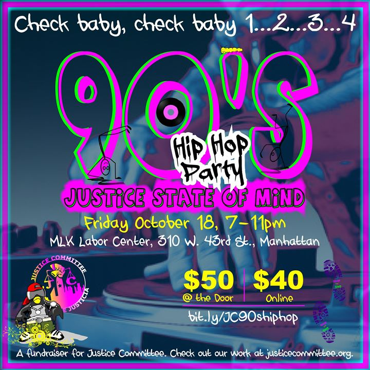 JC's 90s Hip Hop Party en Nueva York le vie 18 de octubre de 2019 19:00-23:00 (After-Work Gay, Lesbiana, Trans, Bi)
