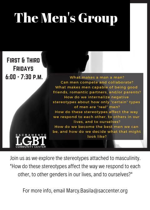 The Men's Group em Sacramento le sex, 17 janeiro 2020 18:00-19:30 (Reuniões / Debates Gay, Lesbica, Trans, Bi)