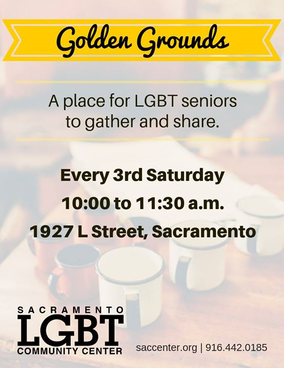 Golden Grounds LGBTQ Meetup in Sacramento le Sat, August 17, 2019 from 10:00 am to 11:30 am (Meetings / Discussions Gay, Lesbian, Trans, Bi)