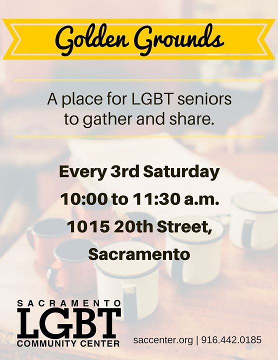 Golden Grounds LGBTQ Meetup in Sacramento le Sat, February 15, 2020 from 10:00 am to 11:30 am (Meetings / Discussions Gay, Lesbian, Trans, Bi)