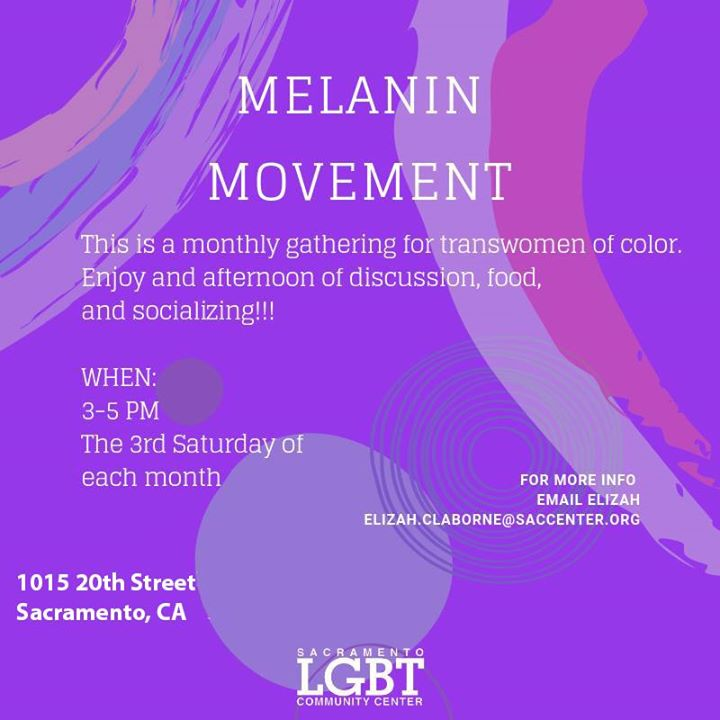 Melanin Movement in Sacramento le Sat, February 15, 2020 from 03:00 pm to 05:00 pm (Meetings / Discussions Gay, Lesbian, Trans, Bi)