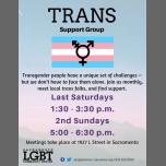 Trans Support Group à Sacramento le sam. 28 décembre 2019 de 13h30 à 15h30 (Rencontres / Débats Gay, Lesbienne, Trans, Bi)