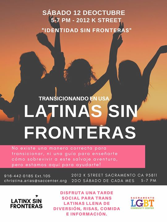 Latinas Sin Fronteras in Sacramento le Sat, January 11, 2020 from 05:00 pm to 07:00 pm (Meetings / Discussions Gay, Lesbian, Trans, Bi)