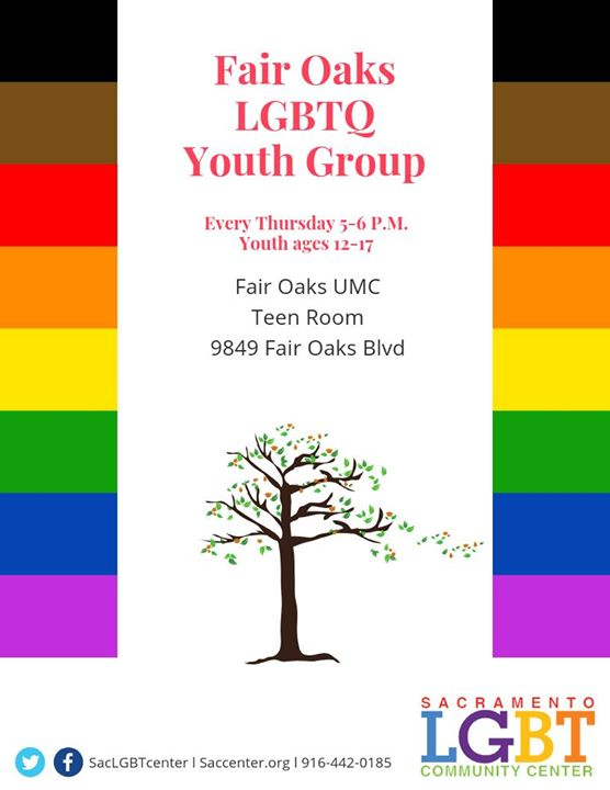 Fair Oaks Youth Group (Ages 12-17) in Sacramento le Thu, November  7, 2019 from 05:00 pm to 06:00 pm (Meetings / Discussions Gay, Lesbian, Trans, Bi)