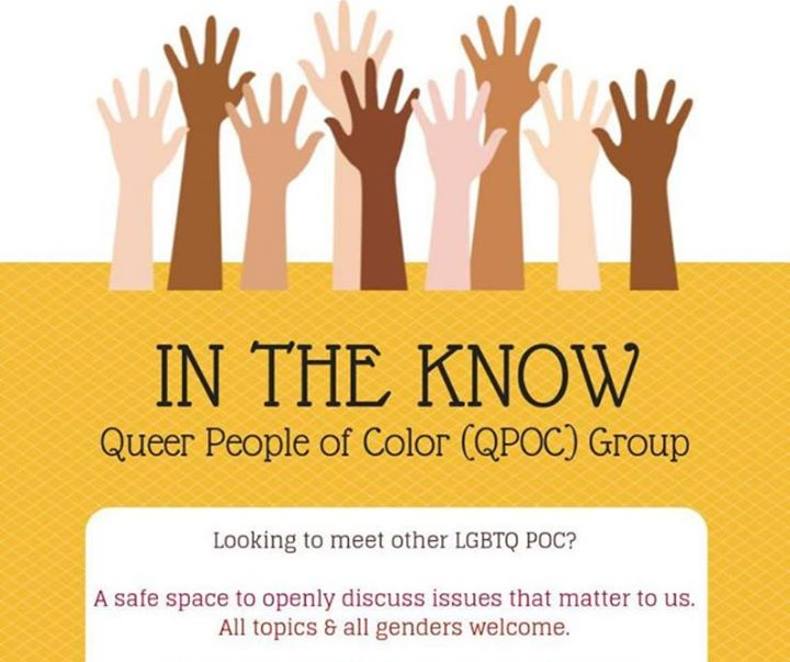 In the Know QPOC Group à Sacramento le ven. 22 novembre 2019 de 18h00 à 19h30 (Rencontres / Débats Gay, Lesbienne, Trans, Bi)
