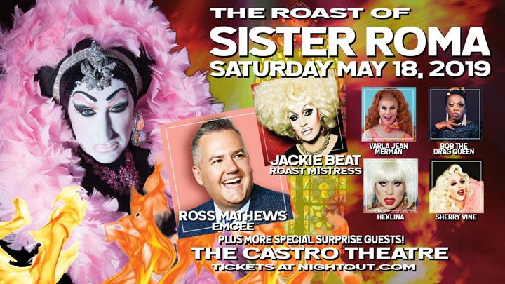 Roast Of Sister Roma! in San Francisco le Sa 18. Mai, 2019 19.00 bis 22.00 (After-Work Gay)