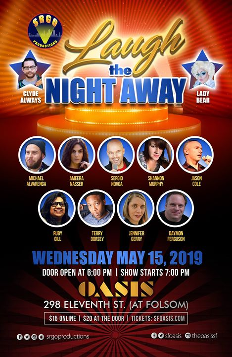 Laugh the Night Away in San Francisco le Mi 15. Mai, 2019 19.00 bis 21.00 (After-Work Gay)