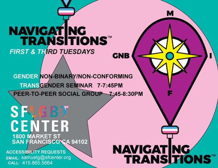 Navigating Transitions in San Francisco le Tue, March 17, 2020 from 07:00 pm to 08:30 pm (Meetings / Discussions Gay, Lesbian, Trans, Bi)