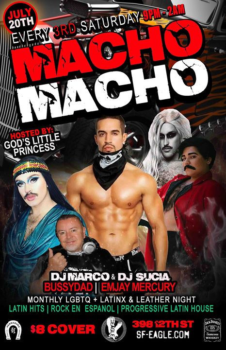 Macho Macho in San Francisco le Sat, July 20, 2019 from 09:00 pm to 02:00 am (Clubbing Gay, Bear)