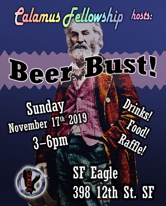 Beer Bust at SF Eagle: Benefitting Calamus Fellowship em San Francisco le dom, 17 novembro 2019 15:00-18:00 (After-Work Gay, Bear)