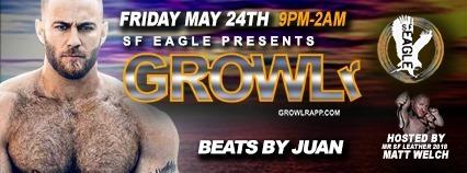 GROWLr w /Beats By Juan a San Francisco le ven 28 giugno 2019 21:00-02:00 (Clubbing Gay, Orso)
