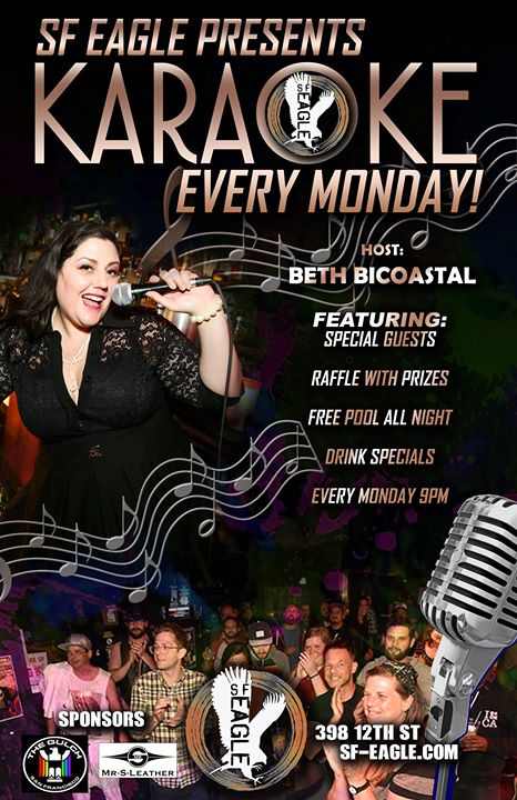 SF Eagle Karaoke in San Francisco le Mon, November 11, 2019 from 09:00 pm to 12:00 am (After-Work Gay, Bear)