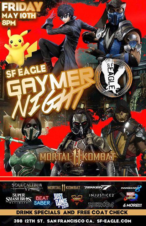 SF Eagle Gaymer Night in San Francisco le Fri, July 12, 2019 from 08:00 pm to 02:00 am (Clubbing Gay, Bear)