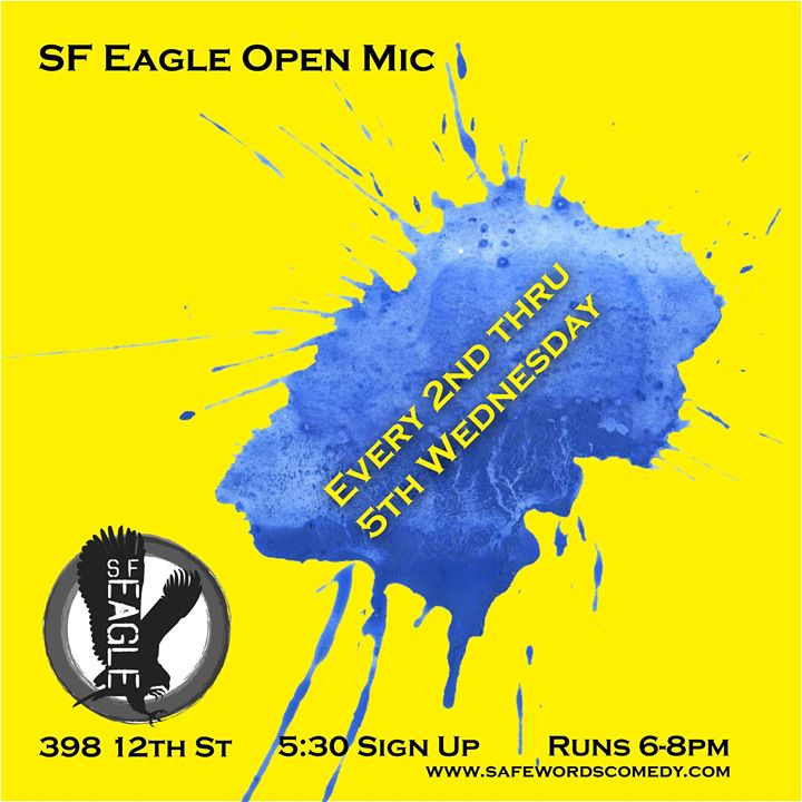 SF Eagle Open Mic à San Francisco le mer. 15 mai 2019 de 18h00 à 20h00 (Clubbing Gay, Bear)