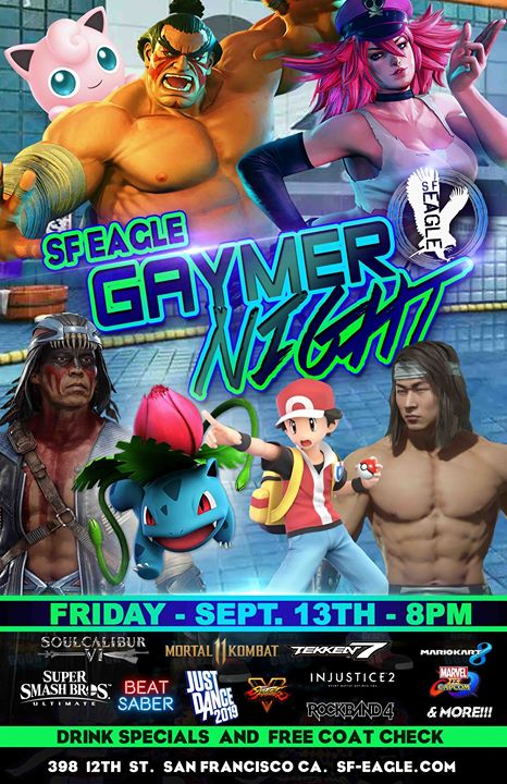 SF Eagle Gaymer Night em San Francisco le sex, 13 dezembro 2019 20:00-02:00 (Clubbing Gay, Bear)
