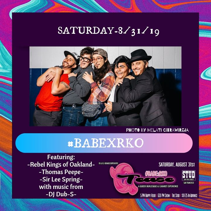8/31 - BABExRKO #QTease at the Stud in San Francisco le Sat, August 31, 2019 from 06:00 pm to 08:00 pm (After-Work Gay)