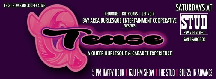 7/20 - #QTease at the Stud à San Francisco le sam. 20 juillet 2019 de 18h00 à 20h00 (Clubbing Gay)