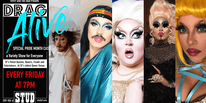 Drag Alive- Friday Drag Happy Hour à San Francisco le ven. 19 juillet 2019 de 18h30 à 20h00 (Spectacle Gay)
