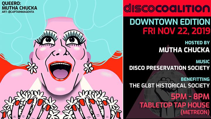 Disco Coalition Downtown Edition / Queero: Mutha Chucka a San Francisco le ven 22 novembre 2019 17:00-20:00 (After-work Gay, Lesbica, Trans, Bi)