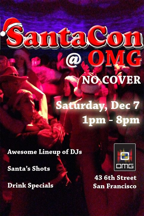 SantaCon Central: Official Dance Party in San Francisco le Sat, December  7, 2019 from 01:00 pm to 08:00 pm (After-Work Gay Friendly)
