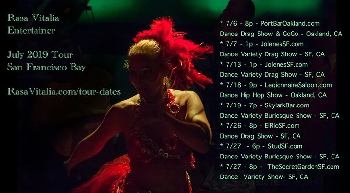 Rasa Vitalia - July 2019 Tour - San Francisco in San Francisco le Fr 19. Juli, 2019 19.30 bis 21.00 (After-Work Gay)