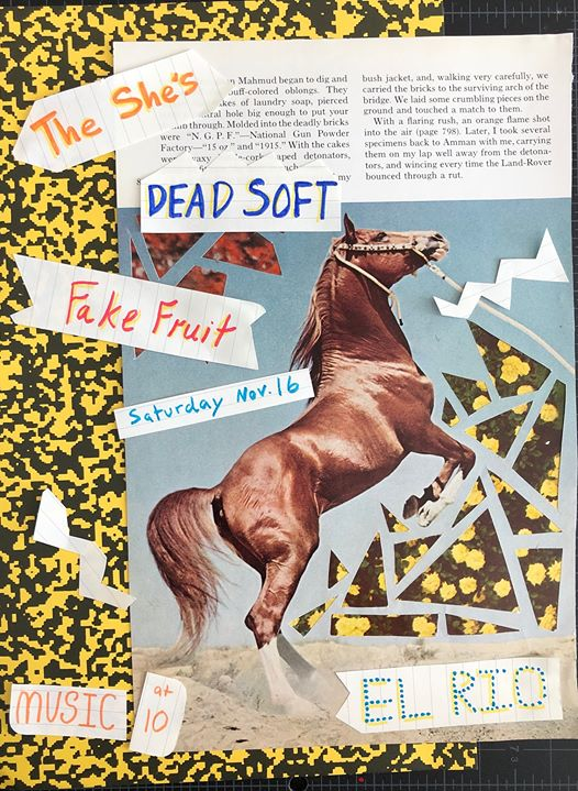 The She's / Dead Soft / Fake Fruit LIVE at El Rio! en San Francisco le sáb 16 de noviembre de 2019 21:00-01:00 (Clubbing Gay)