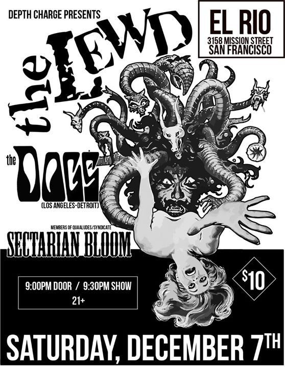 The Lewd, The Dogs (LA/Detroit) & Sectarian Bloom à San Francisco le sam.  7 décembre 2019 de 21h00 à 23h59 (After-Work Gay)