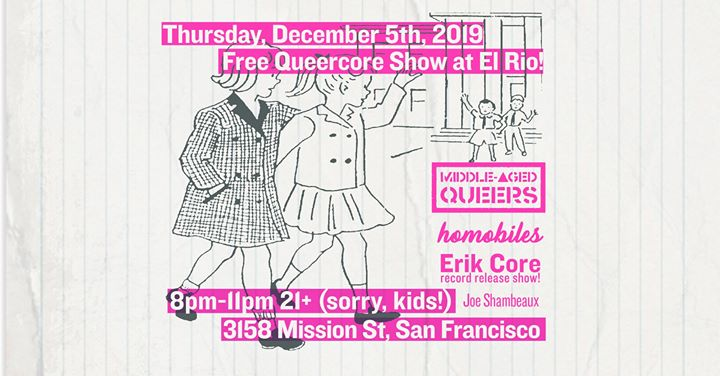 Erik Core Album Release Party en San Francisco le jue  5 de diciembre de 2019 20:00-23:00 (After-Work Gay)