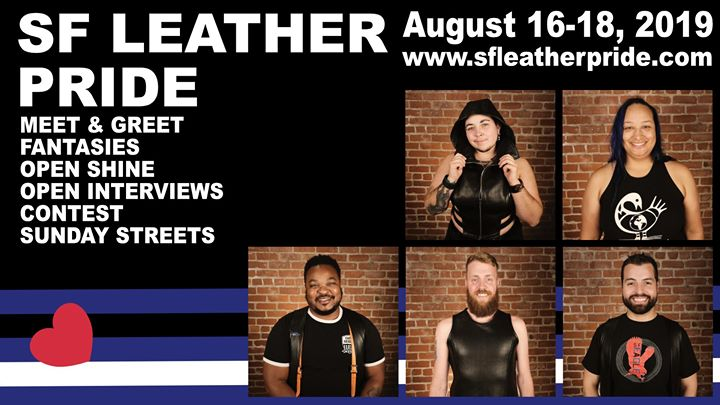 Mr. SF Leather and SF Bootblack Contests - 2020 titleholders in San Francisco from 16 til August 18, 2019 (Festival Gay)