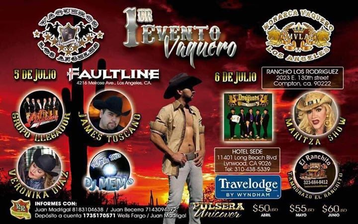 1er Evento Vaquero in Los Angeles le Fri, July  5, 2019 from 09:00 pm to 02:00 am (Clubbing Gay, Bear)
