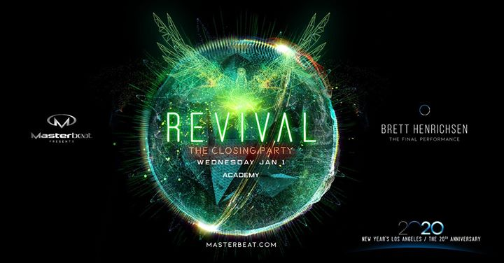 Revival: Masterbeat 2020 Closing Party em Los Angeles le qua,  1 janeiro 2020 21:00-04:00 (Clubbing Gay Friendly)