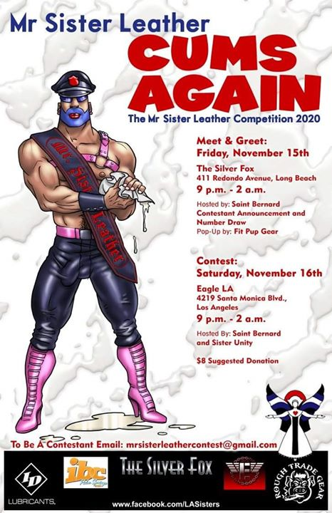 Mr. Sister Leather Cums Again Contest! in Los Angeles le Sa 16. November, 2019 21.00 bis 02.00 (Clubbing Gay)