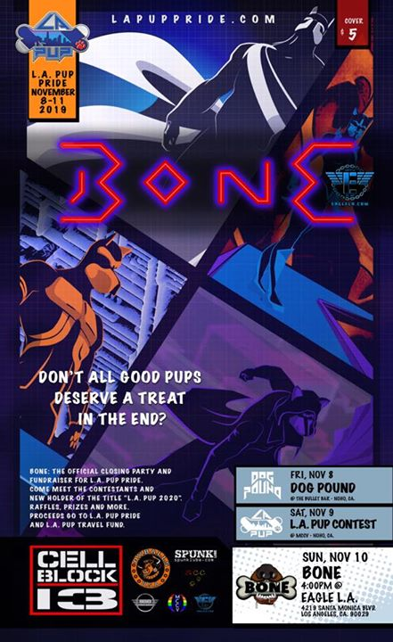 Bone: LA Pup 2020 Travel Fundraiser in Los Angeles le So 10. November, 2019 16.00 bis 20.00 (After-Work Gay)