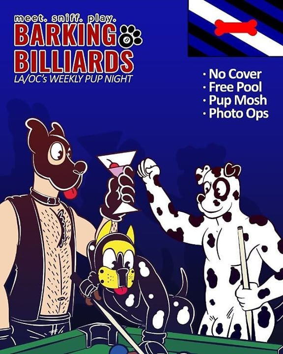 Barking Billiards in Long Beach le Do 13. Februar, 2020 20.00 bis 02.00 (Clubbing Gay)