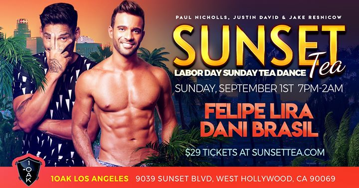 Sunset Tea Returns for Labor Day Sunday Tea! in Los Angeles le Sun, September  1, 2019 from 07:00 pm to 02:00 am (After-Work Gay)
