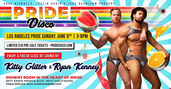 Pride Disco ★ La Pride Sunday w Kitty Glitter + Ryan Kenney à West Hollywood le dim.  9 juin 2019 de 15h00 à 20h00 (Clubbing Gay)
