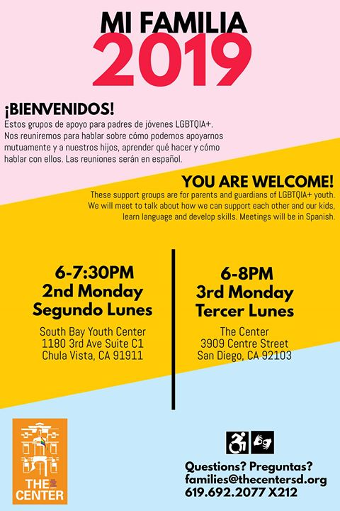 Mi Familia at SBYC! in Chula Vista le Mon, August 12, 2019 from 06:00 pm to 07:30 pm (Meetings / Discussions Gay, Lesbian)