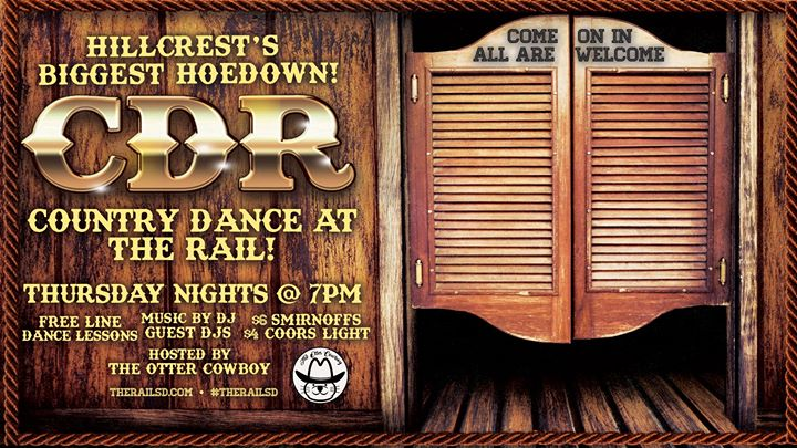 Country Dance at the Rail in San Diego le Thu, September 26, 2019 from 07:00 pm to 12:00 am (After-Work Gay)
