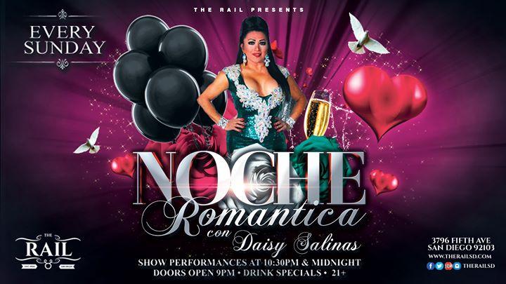 Noche Romantica con Daisy Salinas à San Diego le dim. 14 juillet 2019 de 22h00 à 02h00 (Clubbing Gay)