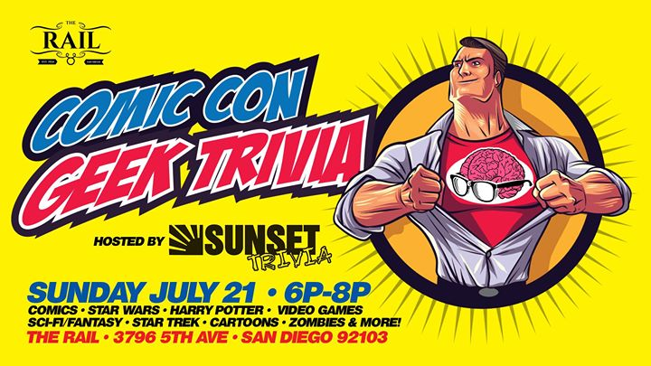 Comic Con Geek Trivia (All Your Favorite Topics!) in San Diego le Sun, July 21, 2019 from 06:00 pm to 08:00 pm (After-Work Gay)