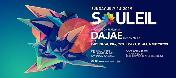 Souleil Pride 2019 in San Diego le Sun, July 14, 2019 from 03:00 pm to 10:00 pm (After-Work Gay, Lesbian)