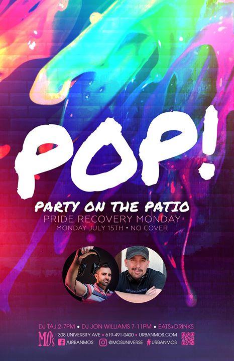 Monday 15 • 2019 SD PRIDE • MO's à San Diego le lun. 15 juillet 2019 de 12h00 à 23h00 (Clubbing Gay)