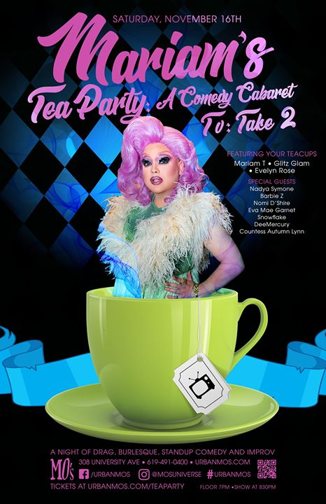 Mariam's Tea Party - TV Take 2 in San Diego le Sa 16. November, 2019 19.00 bis 22.00 (After-Work Gay)