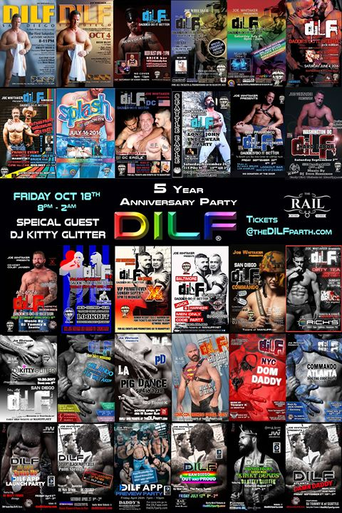 DILF San Diego 5 Year Anniversary Jock Party by Joe Whitaker in San Diego le Fri, October 18, 2019 from 09:00 pm to 02:00 am (Clubbing Gay)