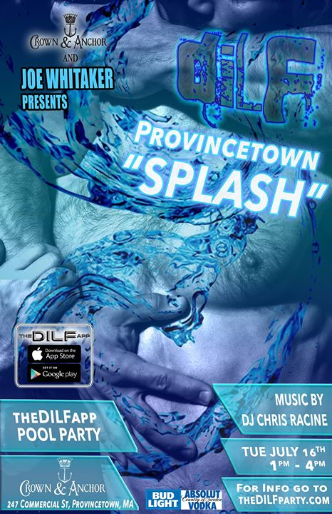 "DILF Provincetown Bear Week 2019 ""Splash"" Pool Party à Provincetown le mar. 16 juillet 2019 de 13h00 à 16h00 (Clubbing Gay)"