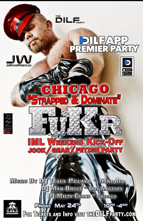 "FuKR Chicago IML Kickoff ""Strapped & Dominate"" Jock/Gear Party à Chicago le ven. 24 mai 2019 de 21h00 à 04h00 (Clubbing Gay)"